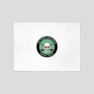 128_bomb_squadrn_GEORGIA_bone 5'x7'Area Rug
