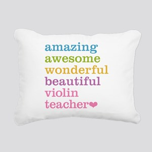 Violin Teacher Rectangular Canvas Pillow