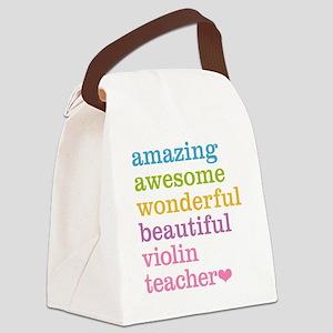Violin Teacher Canvas Lunch Bag