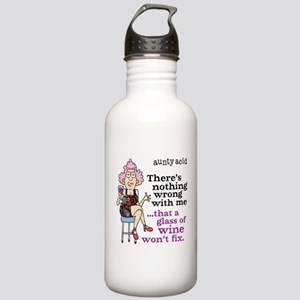 Aunty Acid: Glass of W Stainless Water Bottle 1.0L