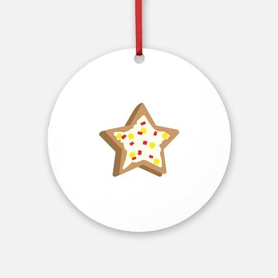 SUGAR COOKIE STAR Ornament (Round)
