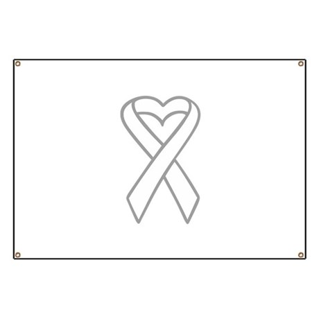 LUNG CANCER RIBBON Banner by Greatnotions1
