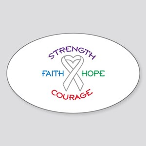 HOPE FAITH COURAGE STRENGTH Sticker
