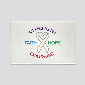 HOPE FAITH COURAGE STRENGTH Magnets