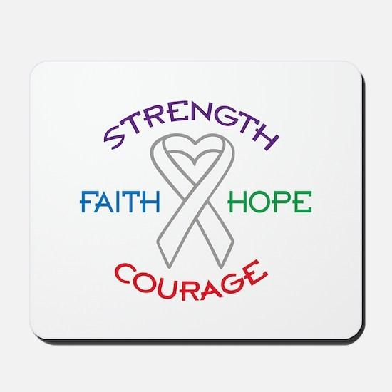 HOPE FAITH COURAGE STRENGTH Mousepad