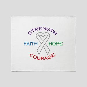 HOPE FAITH COURAGE STRENGTH Throw Blanket