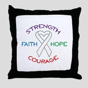 HOPE FAITH COURAGE STRENGTH Throw Pillow