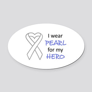 PEARL FOR MY HERO Oval Car Magnet