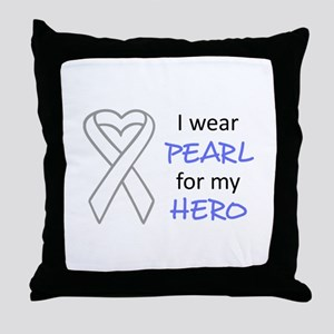 PEARL FOR MY HERO Throw Pillow
