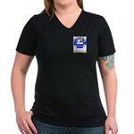 Hulton Women's V-Neck Dark T-Shirt