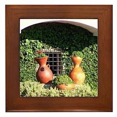 Colombian Vases Framed Tile