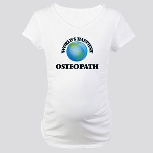 World's Happiest Osteopath Maternity T-Shirt