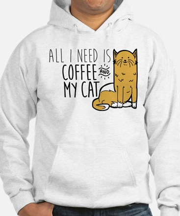 All I Need Is Coffee And My Cat Hoodie