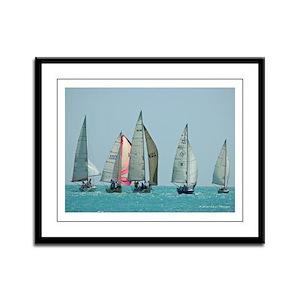 Antigua Yacht Race Framed Panel Print