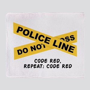 Code Red Throw Blanket