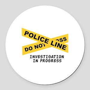 Investigation Round Car Magnet