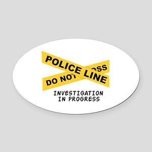 Investigation Oval Car Magnet