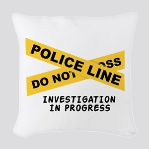 Investigation Woven Throw Pillow