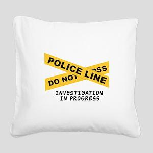 Investigation Square Canvas Pillow
