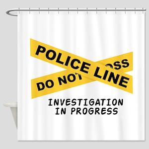 Investigation Shower Curtain