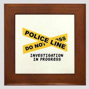 Investigation Framed Tile