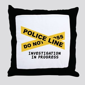 Investigation Throw Pillow