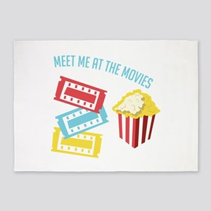 Meet At Movies 5'x7'Area Rug