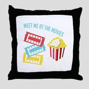 Meet At Movies Throw Pillow