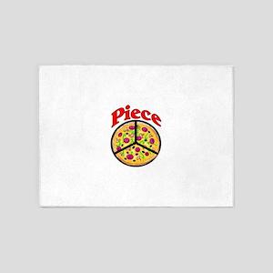 Piece Pizza Peace Sign 5'x7'Area Rug