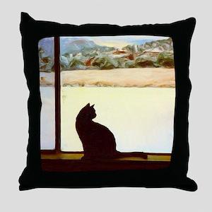 Tosca's Winter Window Throw Pillow