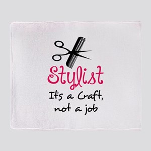 STYLIST ITS A CRAFT Throw Blanket