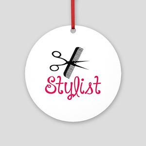HAIR STYLIST Ornament (Round)