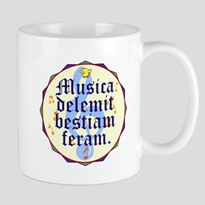 Musica Delemit Bestiam Feram Mugs