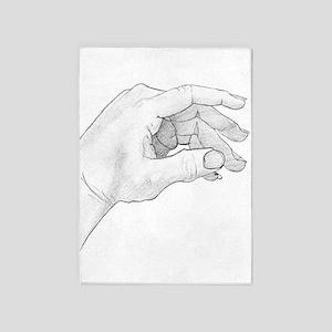 Hand Sketch 5'x7'Area Rug