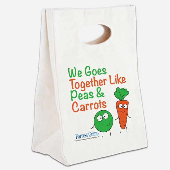 Peas And Carrots Canvas Lunch Tote