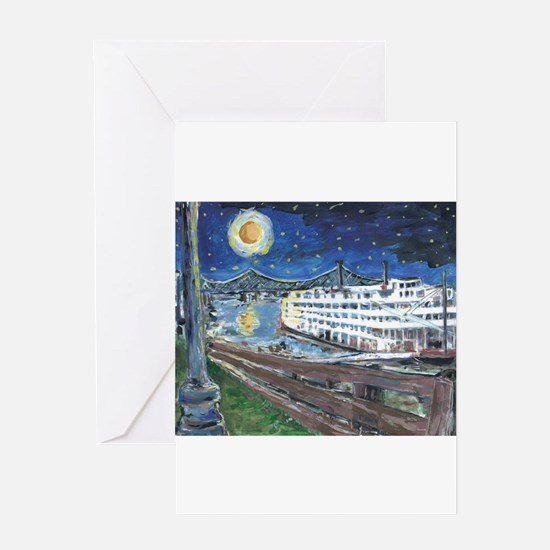 River Boat Note CArds Greeting Cards