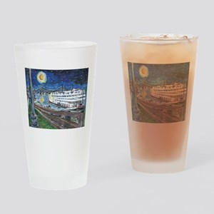Mississippi Riverboat Drinking Glass