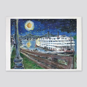 Mississippi Riverboat 5'x7'Area Rug