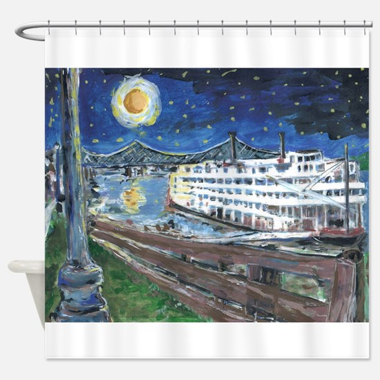 Mississippi Riverboat Shower Curtain