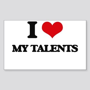 I love My Talents Sticker