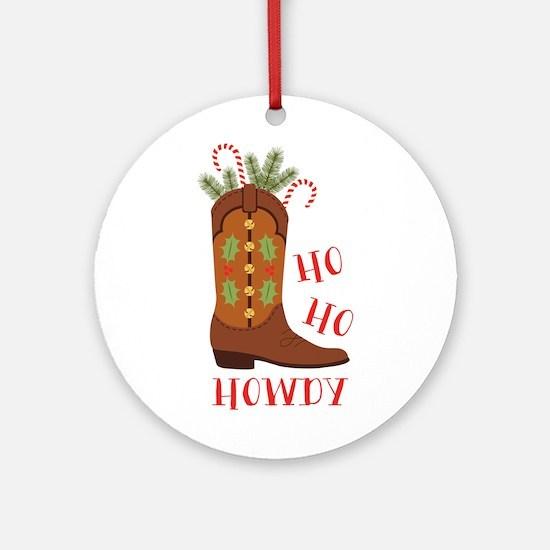 Ho Ho Howdy Ornament (Round)