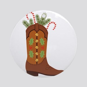 Cowboy Christmas Ornament (Round)
