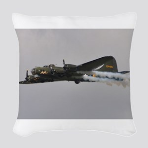 B-17G Flying Fortress Woven Throw Pillow