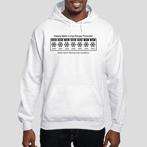 Happy Skier Forecast Hooded Sweatshirt