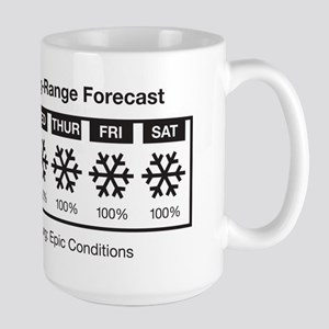 Happy Skier Forecast Large Mug