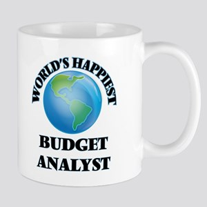 World's Happiest Budget Analyst Mugs