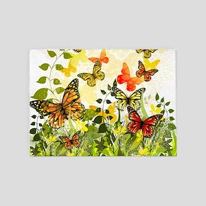 Butterflies 5'x7'Area Rug