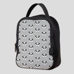 Panda Face Pattern Neoprene Lunch Bag