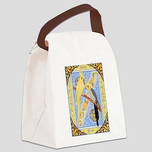 Cockatiels Canvas Lunch Bag