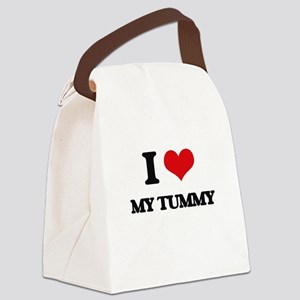 I love My Tummy Canvas Lunch Bag